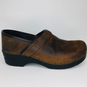 Dansko Professional Antique Oiled Leather Clog